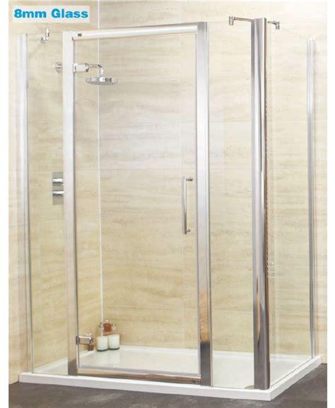 1400 Shower Door Rival 8mm 1400 Hinge Shower Door With Infill Panel 760 Mm Side Panel