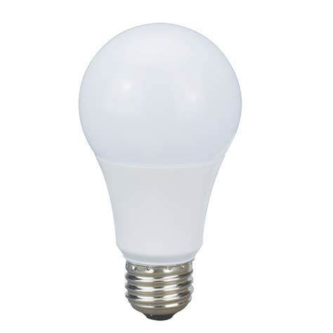 Led Light Bulb Equivalent Shop Utilitech Pro 8 5 Watt 60w Equivalent 3000k A19 Medium Base E 26 Dimmable Warm White