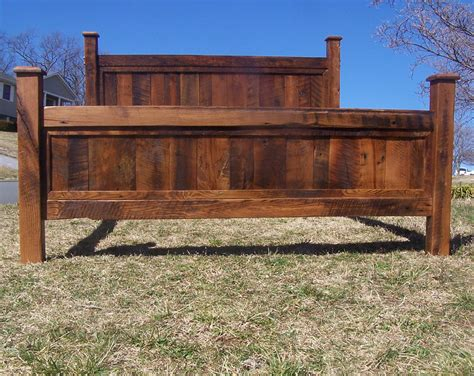 Wood Bed Frame King Free Shipping Shenandoah Sunset Bed Frame Made From Reclaimed