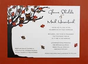 fall autumn wedding invitations standout fall wedding invitations