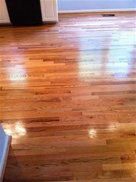 Red Oak Hardwood Floors,Left is oil based polyurethane and