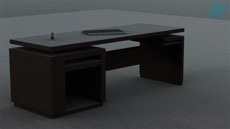 modern simple desk simple modern desk wood 3d model cgtrader
