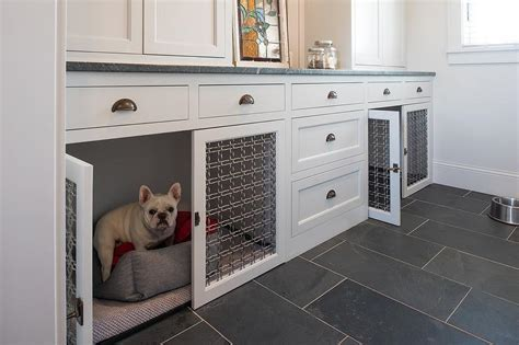Built In Dog Crate Design Ideas
