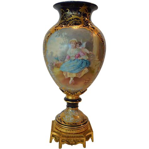 Sevres Vase by Magnificent 17 Sevres Style Painted Porcelain