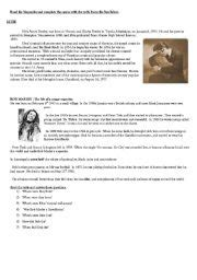bob marley biography esl english teaching worksheets bob marley