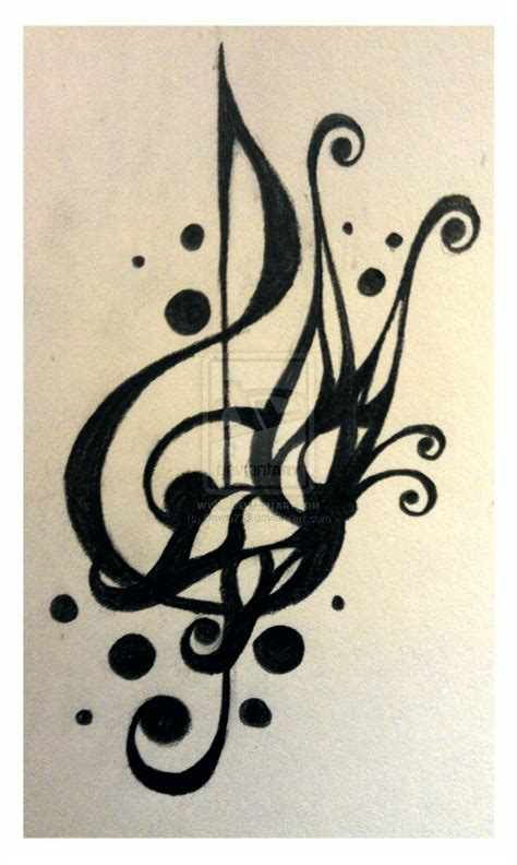 tattoo design treble clef 2 by dawn773 on deviantart