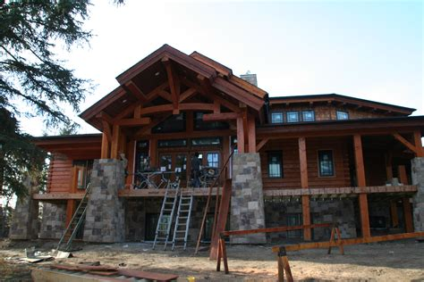 wood home plans wood river log home plan comes to life in alberta canada