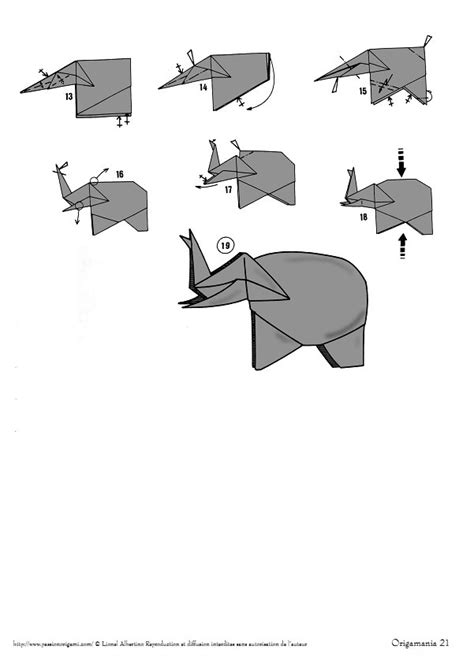 Origami Elephant Diagram - elephants lionel albertino
