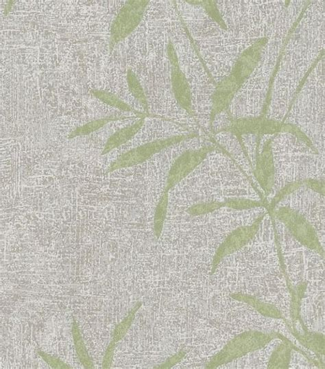 oriental wallpaper grey asian inspired green bamboo leaf wallpaper gray crackled