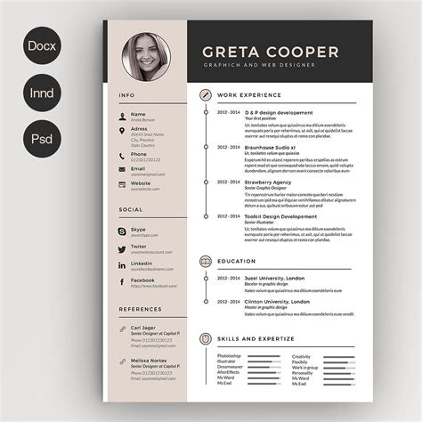 Resume With Picture Template by Cv Resume With Picture Exle Template