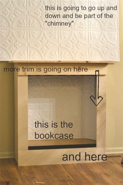 turn fireplace into bookshelf bookcase fireplace tutorial from nelliebellie