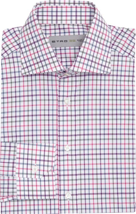 T2b A List Etro Check Shirt Dress by Lyst Etro Graph Check Shirt In Purple For