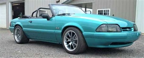 calypso green 1992 ford mustang convertible 5 0 v8 for