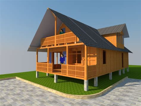 desain tak depan rumah kayu desain rumah kayu design rumah kayu disain 3d