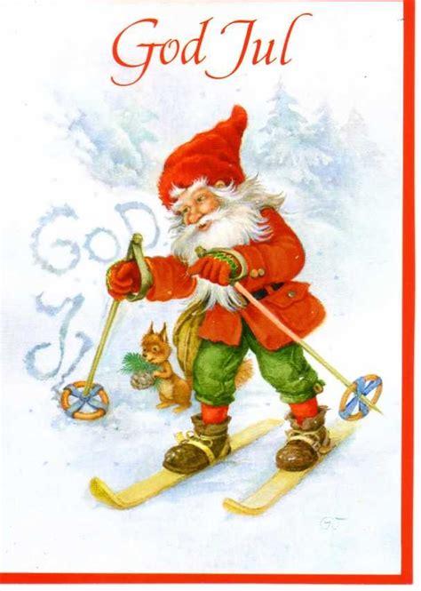 swedish christmas greeting card god jul merry christmas gnomes  fairies pinterest
