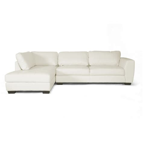 Orland White Leather Modern Sectional Sofa Set With Left White Sectional Sofa With Chaise