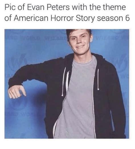 themes of american horror story 25 best memes about evan peters evan peters memes
