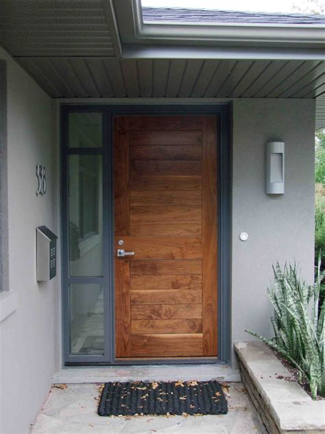 Rectangle House Plans Luxury Brown Wooden Front Entry Door Design With Silver