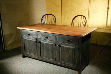 reclaimed wood kitchen island with black base lake and