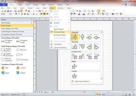 visio for office 2010 screen of classic menu for visio 2010 2013 and 2016