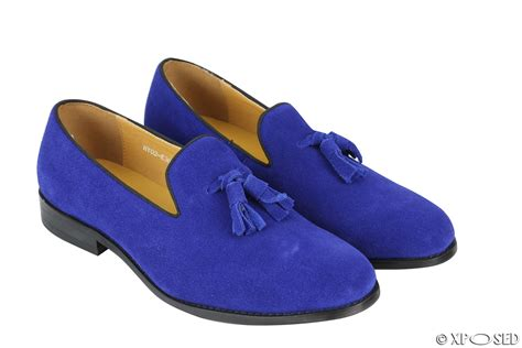 mens blue suede tassel loafers new mens real leather slip on smart casual tassel loafers