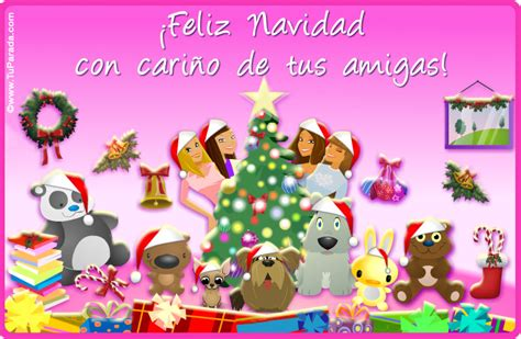 imagenes de navidad para amigas tarjeta de navidad para amigas postal de navidad gratis