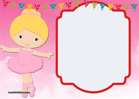 ballerina birthday card template ballerina birthday invitation templates free free