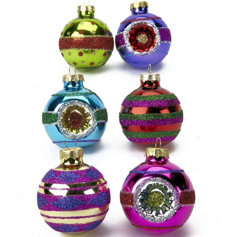 luxury colourful glass christmas decorations sets