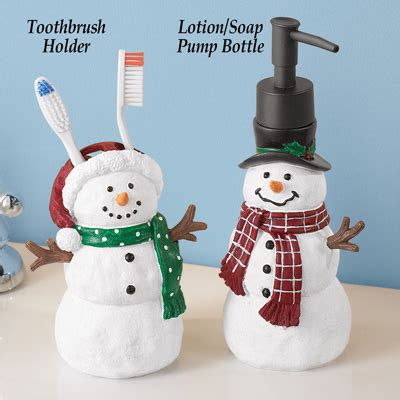 snowman bathroom decor snowman christmas bathroom accessories from collections etc