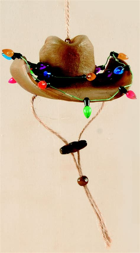 christmas cowboy hat ornament wild wild west pinterest