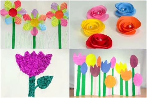 How To Make Crinkle Paper Flowers - how to make crinkle paper flowers craft ideas easy