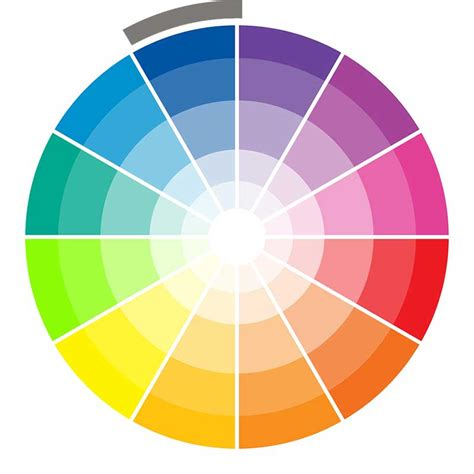 monochromatic color wheel choosing your wedding colors