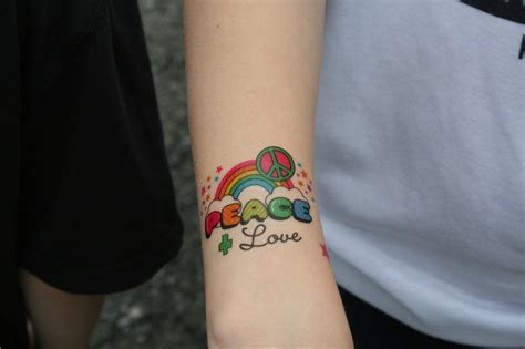 tattoo love and peace ink