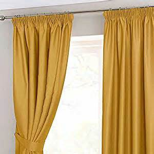 Yellow Black Out Curtains Homescapes Mustard Yellow Ochre Pencil Pleat Blackout Thermal Curtains Pair Width 45 X 54 Inch