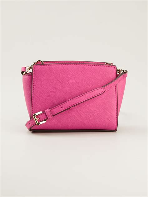 Benefit I Pink I You Bag lyst michael michael kors small selma messenger bag in pink