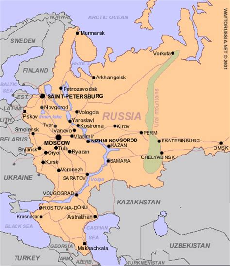 russian capital cities map 10 important facts about russia way to russia guide
