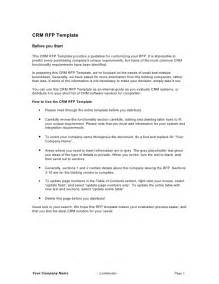 Template For Rfp by Crm Rfp Template
