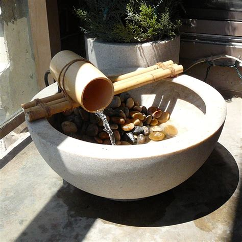 Handmade Water - bamboo water feature saf affect