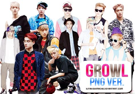 wallpaper exo growl exo growl png ver by ilitakishimacho on deviantart