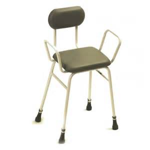 Bath Shower Seat perching stool with arms amp back seating clearwell mobility