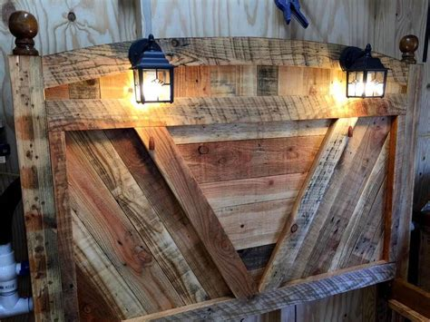 wood pallet bed frame with lights diy pallet bed frame with lighted headboard and night