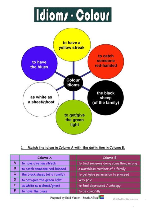 color idioms worksheet free esl printable worksheets made by teachers