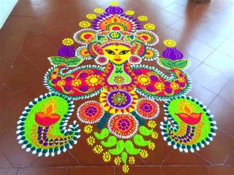 Decoration For Ganesh Festival At Home by Latest Creative Rangoli Design Ideas To Try This Festive