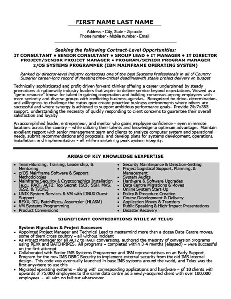president and ceo resume template premium resume sles