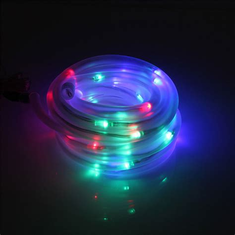 solar led strip lights 50 led solar flexible tube strip light string auto