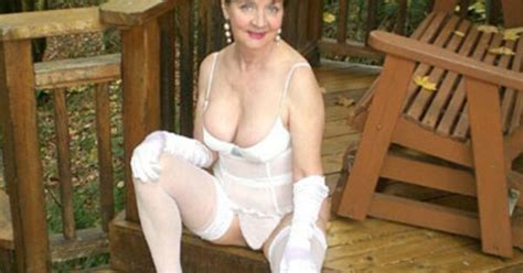 hot granny sexy granny in gorgeous white lingerie naughty grannies
