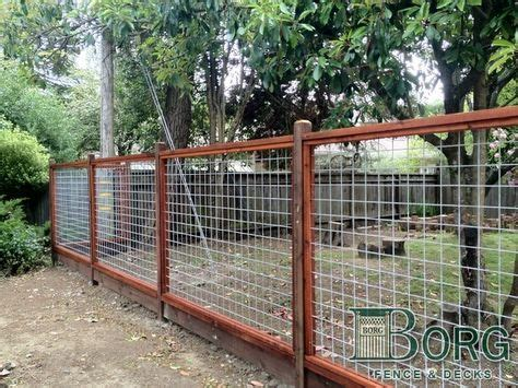 custom framed    welded wire  borg fence  decks