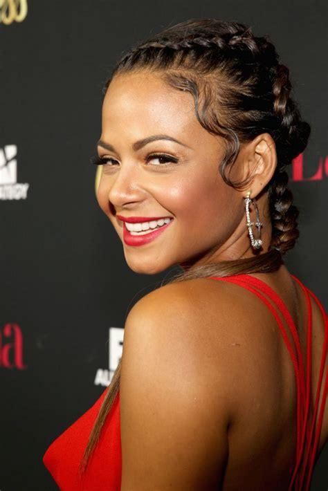 latina hairstyles 2014 christina milian at latina magazine s hollywood hot list