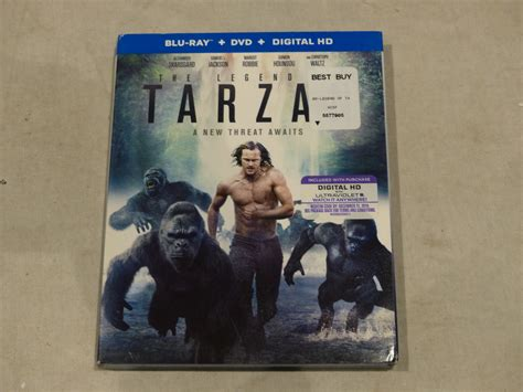 slipcover dvd the legend of tarzan blu ray dvd digital hd new with