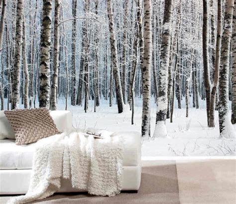 snow themed bedroom 15 impressive wall mural ideas that bring the outdoors in